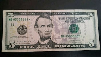 $5 Bill STAR NOTE