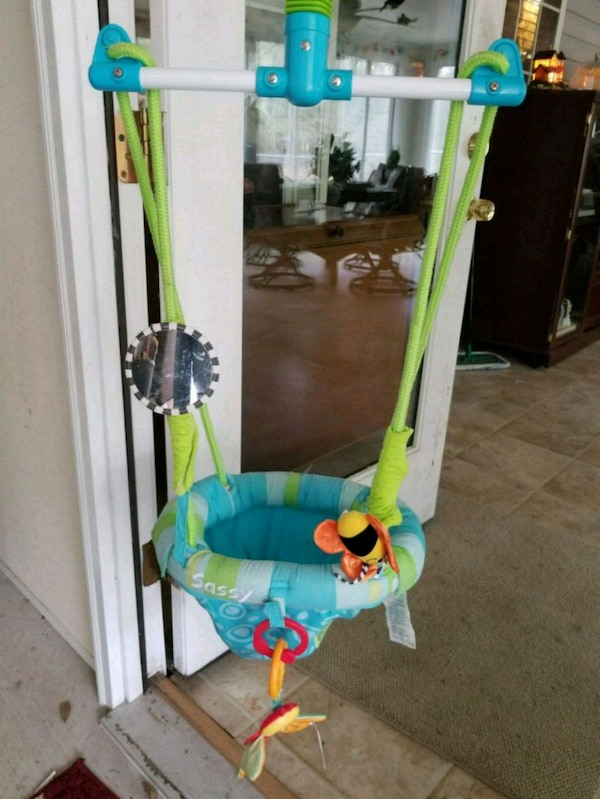 Used Sassy Door Frame Bouncer With Removable Toys For Sale In