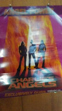 VINTAGE RARE CHARLIE'S ANGELS PROMOTIONAL POSTER Voorhees Township