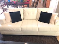 white leather 3-seat sofa Chandler, 85286