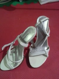 White heel shoes, size six