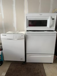 Microwave 50$ Dish washer 75$ Electric stove75$