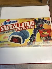 Transformers limited edition Hostess Snowballs..possibly the last unopened package on Earth! Chantilly