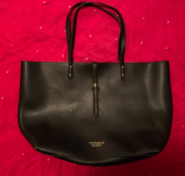 Victoria Secret Faux Leather Tote w/ Red Interior d159bddf-4937-4cb4-b9b8-7855c3fcc752