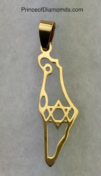 "New! Gold coloured ""Star of David/Shield of David"" pendant charm Brampton, L6R 2C5"