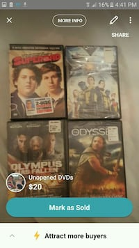 four assorted DVD movie cases Columbia, 38401
