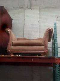 brown wooden framed brown leather padded armchair Springfield, 01105