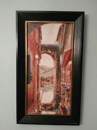lake and houses framed painting i have 2 asking 30