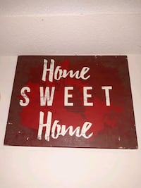 Canada Sweet Home Frame Wall Canvas Panel