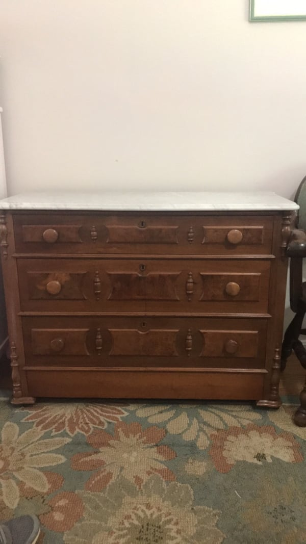 Marble top dresser with secret drawer 0