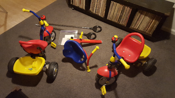 Two Kettler Tricycles
