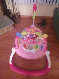 baby's pink and white activity saucer Mount Olive Township, 07828