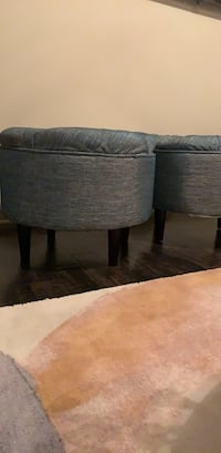 two brown wooden coffee tables 46 km