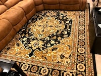 brown and black floral area rug PROVIDENCE