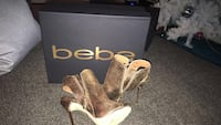 Size 5 gold BeBe shoes  Fountain Valley, 92708