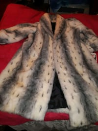 Faux Full length White fox coat. Edmonton