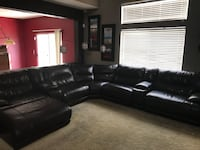 black leather sectional sofa with ottoman Las Vegas, 89139
