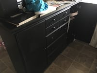 brown wooden 6-drawer lowboy dresser