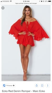 Women's red off-shoulder Playsuit Toronto, M2N 2T5