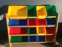 yellow, red, and green plastic toy organizer Plainfield, 60544