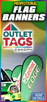 Flag Banners Outlet Tags Canopy print ad