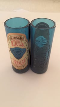 Set of 2 Reposado Tequila Corralejo Colbalt Blue Tall Shorts Glasses Palmdale, 93552