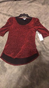 Red and black long-sleeved dress South Bend, 46628