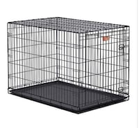 black metal folding dog crate Garland, 75040