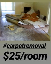 Carpet removal $25/room free estimates  Minneapolis