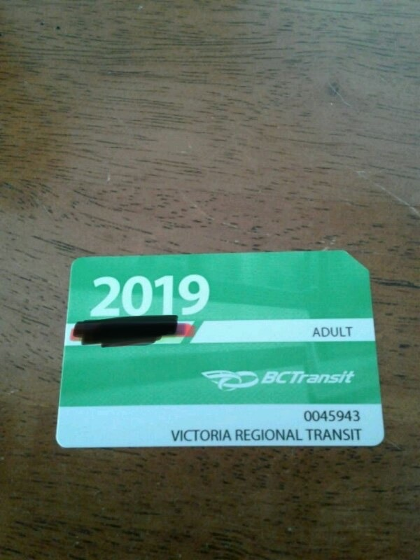 Victoria bc adult buss pass for sale!