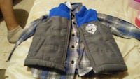 grey bubbled zip vest 18 months Rome