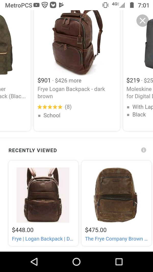 3c55175d8f4f Used Brown Leather Backpack for sale in Dallas - letgo