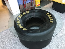 Indy Car Man Cave Racing Tire Coffee Table OBO Call Mark at  [TL_HIDDEN]  can be seen in Wanamaker
