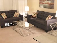 Brand new grey sofa and loveseat  1204 mi