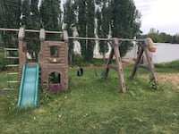 green and brown outdoor play set null, T5S 2C2