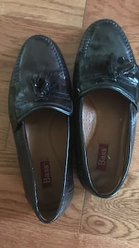 Pair of black Bass leather slip on size 12
