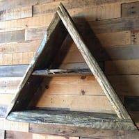 Distressed Metallic Gold Live Edge Triangle Shelve Cleveland, 44113