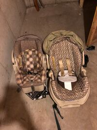 2 carseats with bases Janesville, 53546