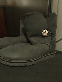Uggs black bailey button boots with gold Swarovski  Vancouver, V5V 4X8