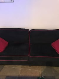 black and red fabric sofa Los Angeles, 90013