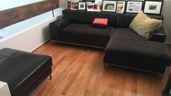 Admirable Brown Leather Fabric Ikea Kramfors Sofa And Ottoman Download Free Architecture Designs Scobabritishbridgeorg