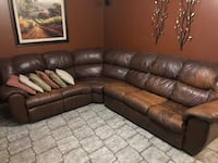 Brown leather sectional Tampa, 33615