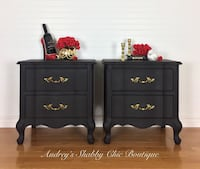 Black French Provincial End Table or Nightstands Richmond Hill