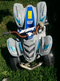 white and blue ride on toy car power wheels Jonesborough, 37659