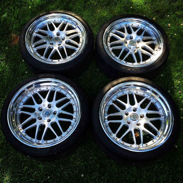 Used HRE C20 3 Piece Wheels W/ Nitto NT05 Tires For Sale