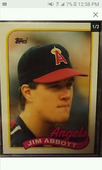 "Los Angeles ""Jim Abott"" trading card"