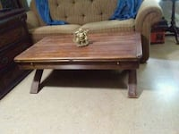 brown wooden single drawer side table Weymouth, 02189