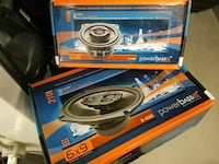PowerBass coaxial speaker boxes
