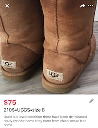 210$•UGGS•womens boots size 8 London, N5W 6E4