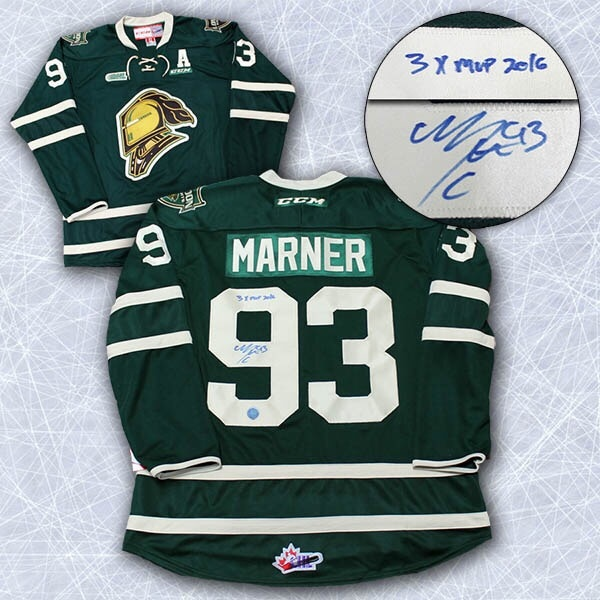huge discount a0430 800d4 Mitch Marner London Knights Autographed Jersey